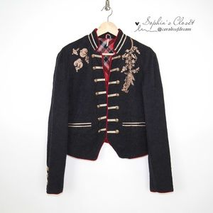 Free People Lauren Band Jacket Military Styling -M